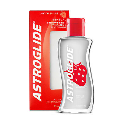 Astroglide Strawberry Liquid Water Based Flavored Personal Lubricant 5 oz