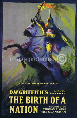 The Birth of a Nation Vintage Movie Poster CANVAS PRINT