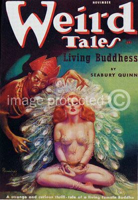 Weird Tales Science Fiction Vintage Fantasy Art Poster