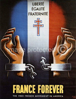 France Forever World War II US Military CANVAS PRINT