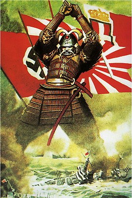 The Samurai Japanese WW2 Propaganda CANVAS PRINT 18x24 archival giclee