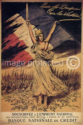 WW2 French CANVAS PRINT For The Flag For Victory -18x24