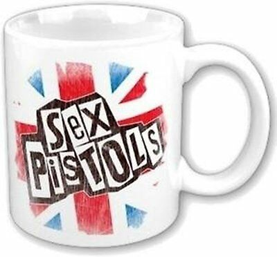 Sex Pistols Union Jack Flag Band Logo Coffee Presentation Mug Boxed Official Fan