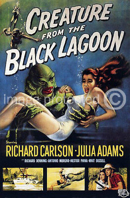 Creature From The Black Lagoon Movie CANVAS PRINT