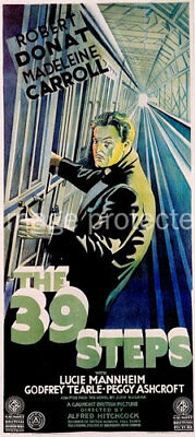 The 39 Steps Vintage Robert Donat Movie Poster -24x36