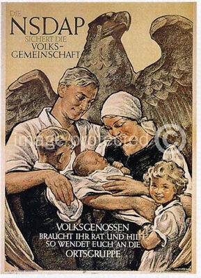 German WW2 Military Propaganda Poster Peoples Community