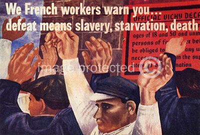 French WW2 War CANVAS PRINT We French Workers Warn You