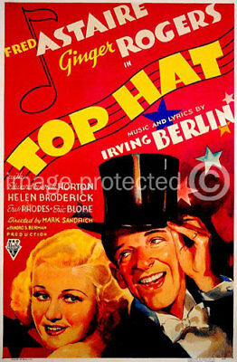 Top Hat Fred Astaire Ginger Rogers Movie CANVAS PRINT