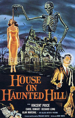 CANVAS PRINT Vincent Price House on Haunted Hill -18x24