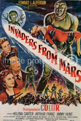 Vintage Sci Fi Movie Poster Invaders From Mars -24x36