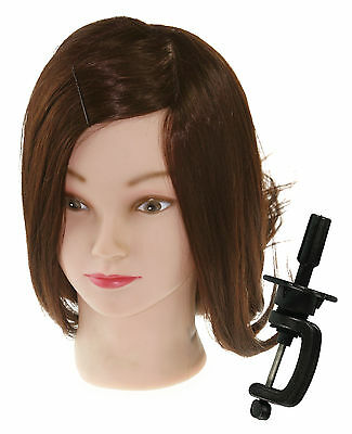 "18"" Hairdressing TRAINING HEAD 80% Real Long Hair LS5"