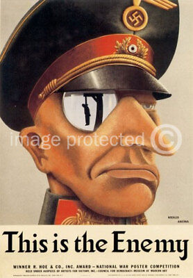 us Italian WW2 Military CANVAS PRINT This Is The Enemy
