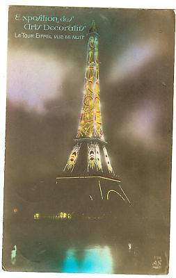 Carte Postale Paris Tour Effel Expo Arts Decoratifs 28