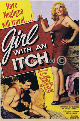 Girl With An Inch Vintage Movie Poster -24x36