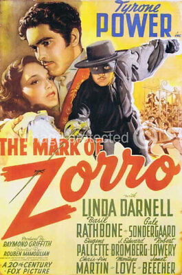 The Mark of Zorro Vintage Movie Poster -24x36