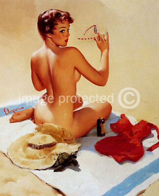 Shell Game Vintage style Gil Elvgren Pinup Art Poster 24x36 giclee' print