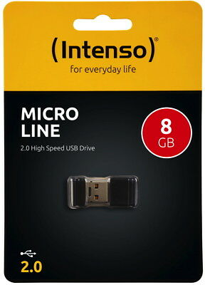 Intenso USB Stick 8GB Speicherstick Micro Line Mini