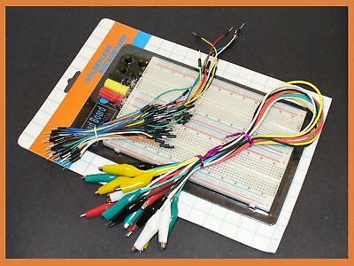 1660 pts solderless breadboard w  jumpers & clips combo