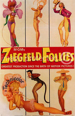 Ziegfeld Follies Vintage Movie Poster Pin Up Art -24x36