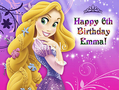 TANGLED Edible CAKE Image Icing Topper Rapunzel 1/4