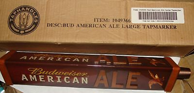 "Budweiser American Ale 12"" 3-Sided Tap Handle New!!!"