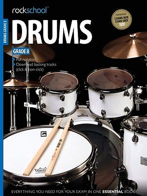Rockschool Drums Grade 8 Sheet Music Book + Download Tracks Drum Drumming NEW