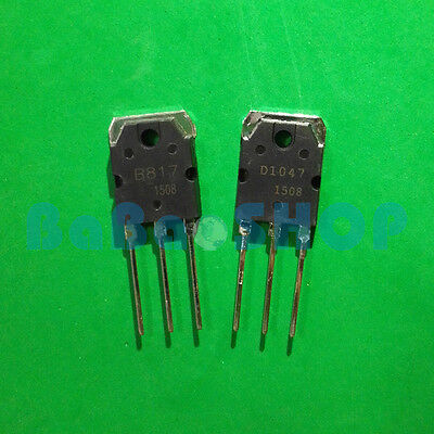 5pairs ( B817 + D1047 ) PNP NPN Planar Silicon Transistors 2SB817 2SD1047 TO-3P
