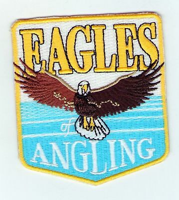 Embroidered Patch Fishing Eagles Angling