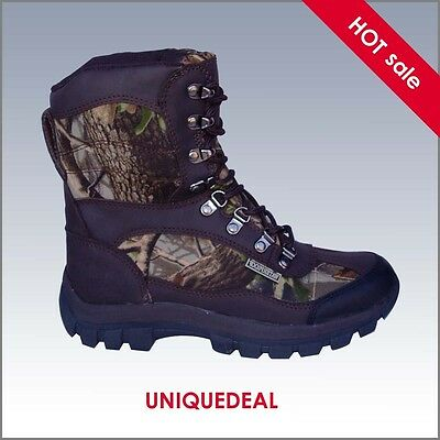 New *kingshow* Mens Snow Winter Hunting Boots Waterproof Camo