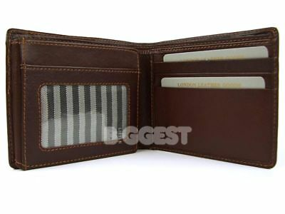 NEWMens/Gents SUPER SOFT LEATHER WALLET Top Quality Brown