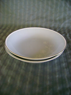 2 FRUIT SAUCE BOWLS SEYEI FROST PINE FINE INLAID CHINA