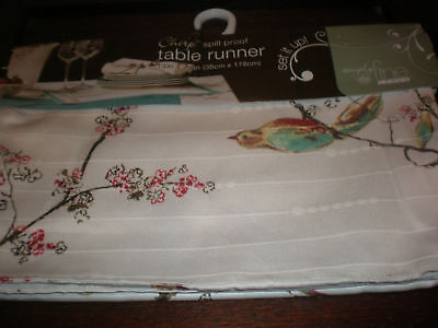 """Lenox Chirp 70"""" Table Runner New With Tags"""