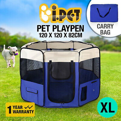 Pet Soft Playpen Dog Puppy Cat Play Crate Cage Enclosure Tent Summer Portable XL