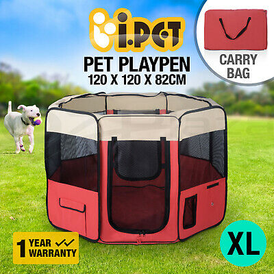 Pet Playpen Soft Dog Cat Puppy Play Pen Round Crate Cage Tent Portable Summer XL