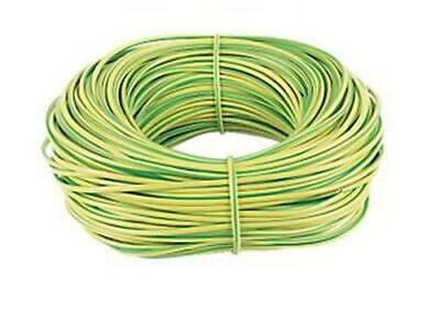 100 Metres 2mm Green / Yellow Earth Sleeving