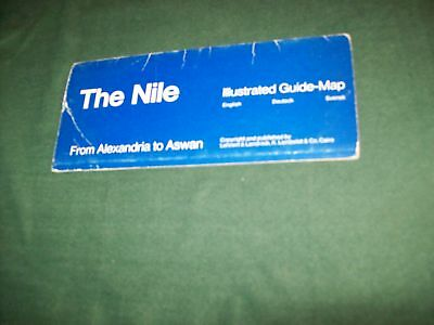 The Nile Illustrated Guide Map English, Deutsch Svensk-Now On Sale