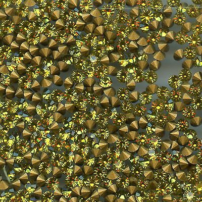 451057***x50 STRASS ANCIENS FOND CONIQUE LIME*******3mm