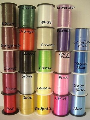 15m CURLING RIBBON. 25 COLOURS AVAILABLE P&P DISCOUNT