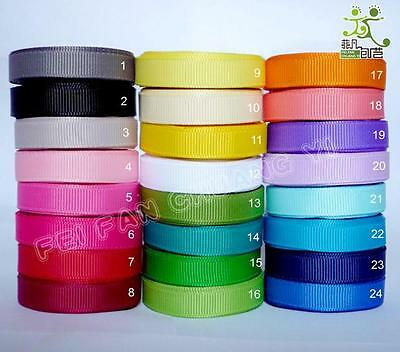 "5 metres Grosgrain RIBBON 1/2""13mm (24 color options U pick) high quality"