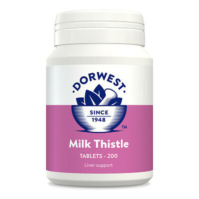 Dorwest Herbs Milk Thistle Liver 200 tablets Dog Cat supplement