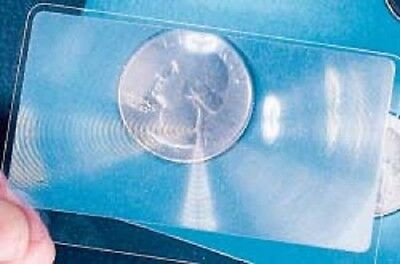 6 Pack of 3X Magnifying Wallet Fresnel Lenses - Great for Reading and Solar