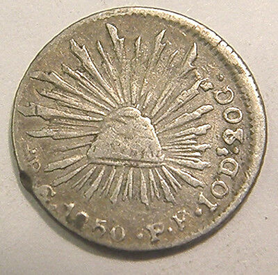 1850 MEXICO SILVER 1/2 REAL  NICE & Scarce S@@!!