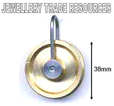 NEW REPLACEMENT BRASS CLOCK ROPE PULLEY PULLY 38mm Diameter