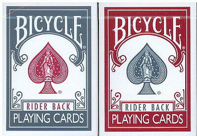 BICYCLE TITANIUM PLAYING CARDS 2 DECK SET 1 BLUE, 1 RED