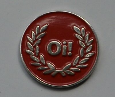 Red Oi! Skinhead Skins Quality Enamel  Pin Badge