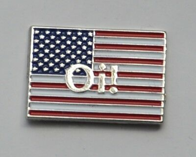 U.S.A Flag Oi! Skinhead Skins Quality Enamel  Pin Badge