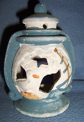 Blue white NAUTICAL Sailboat Lantern tea light CANDLE