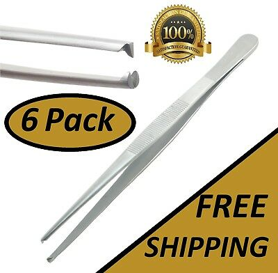"Pack Of 6 Rat Tooth Tissue Thumb Forceps 6"" Surgical 1X2 Teeth"