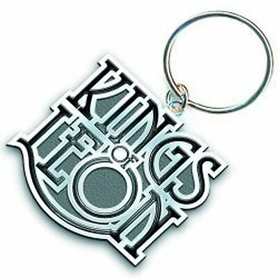 Kings Of Leon Band Scroll Logo Metal Silver Keychain Keyring Fan Gift Official