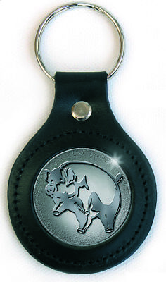 Pink Floyd Pig Logo Icon Image Metal Leather Keychain Keyring Fan Gift Official